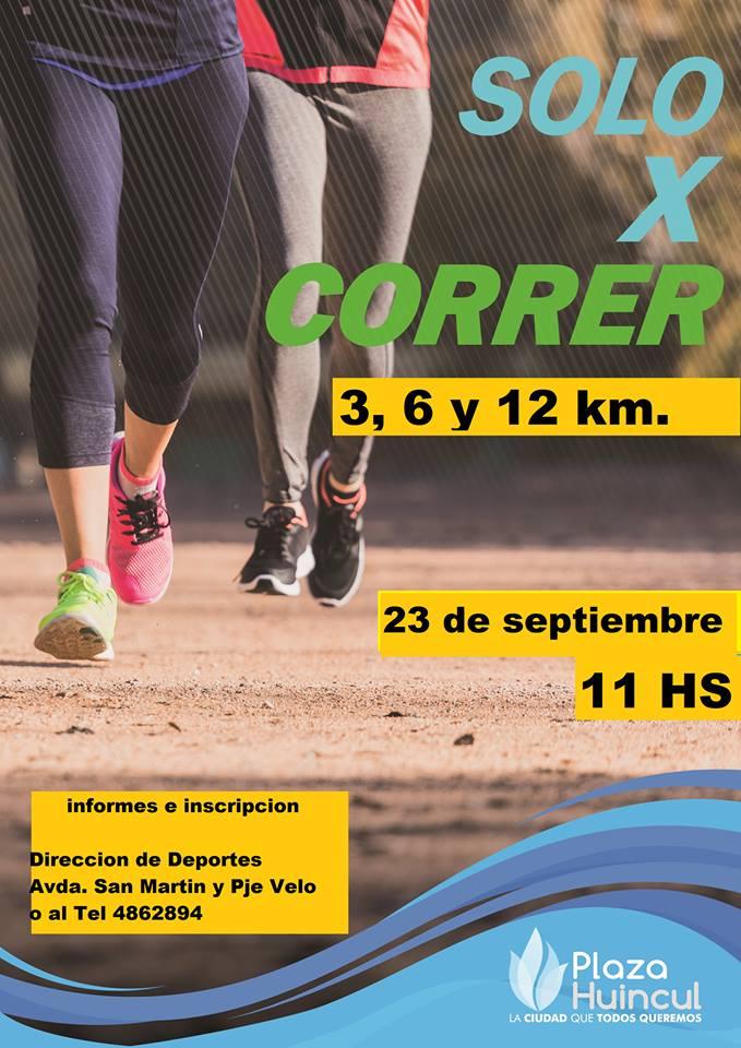 SOLO POR CORRER 3, 6 Y 12 KM