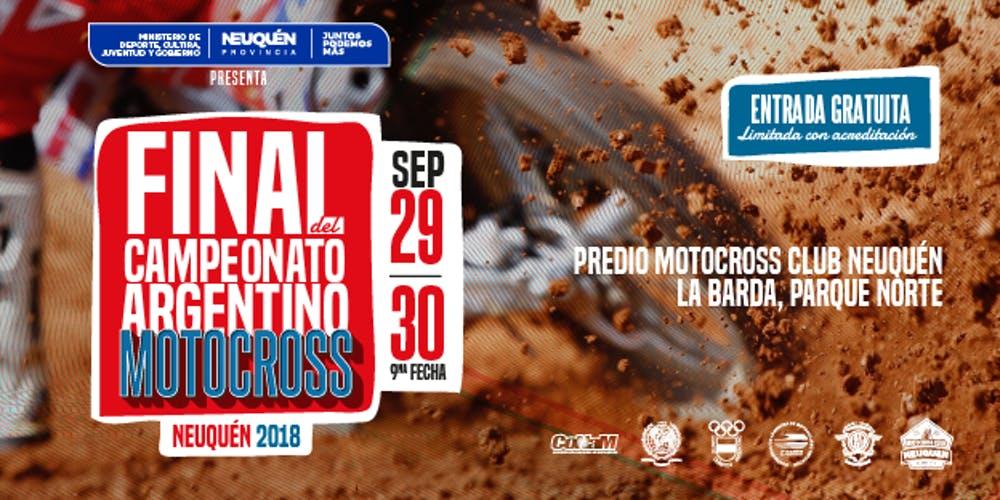 LA FINAL DEL CAMPEONATO ARGENTINO DE MOTOCROS SE CORRERÁ EN NEUQUÉN