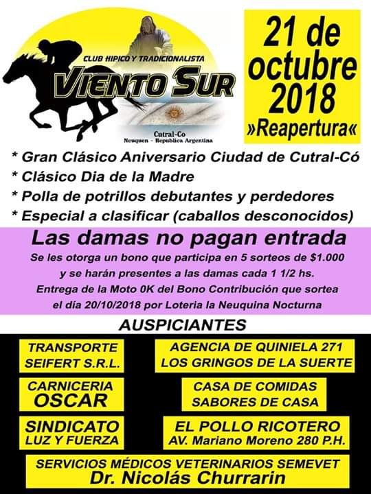 RE-APERTURA «CLUB HÍPICO VIENTO SUR»