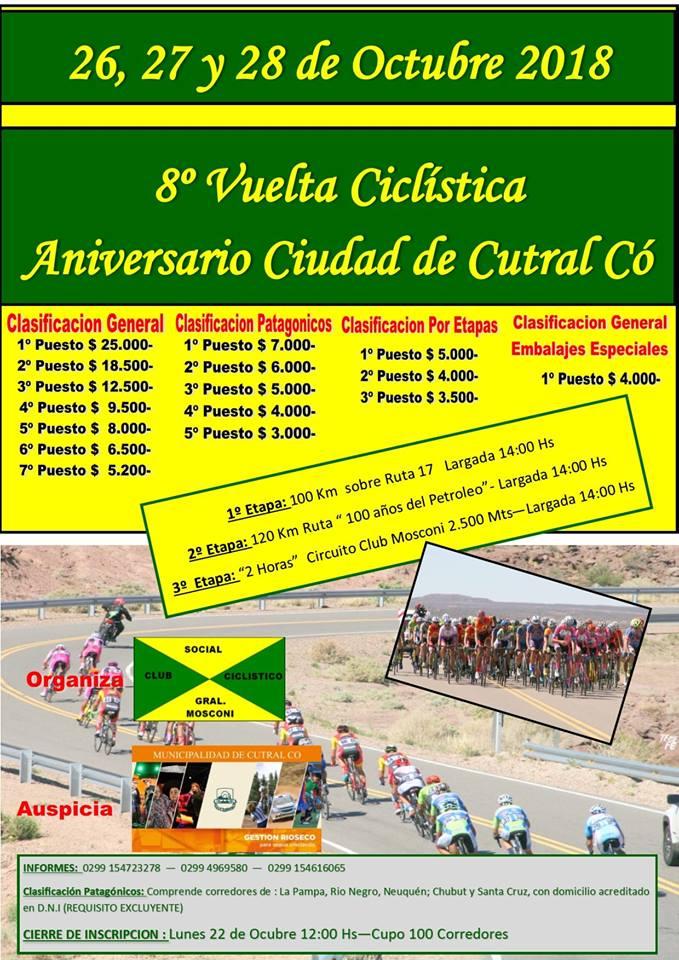 8AVA VUELTA CICLISTICA ANIVERSARIO DE CUTRAL-CÓ