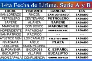 SE VIENE LA 14TA FECHA DE LIFUNE