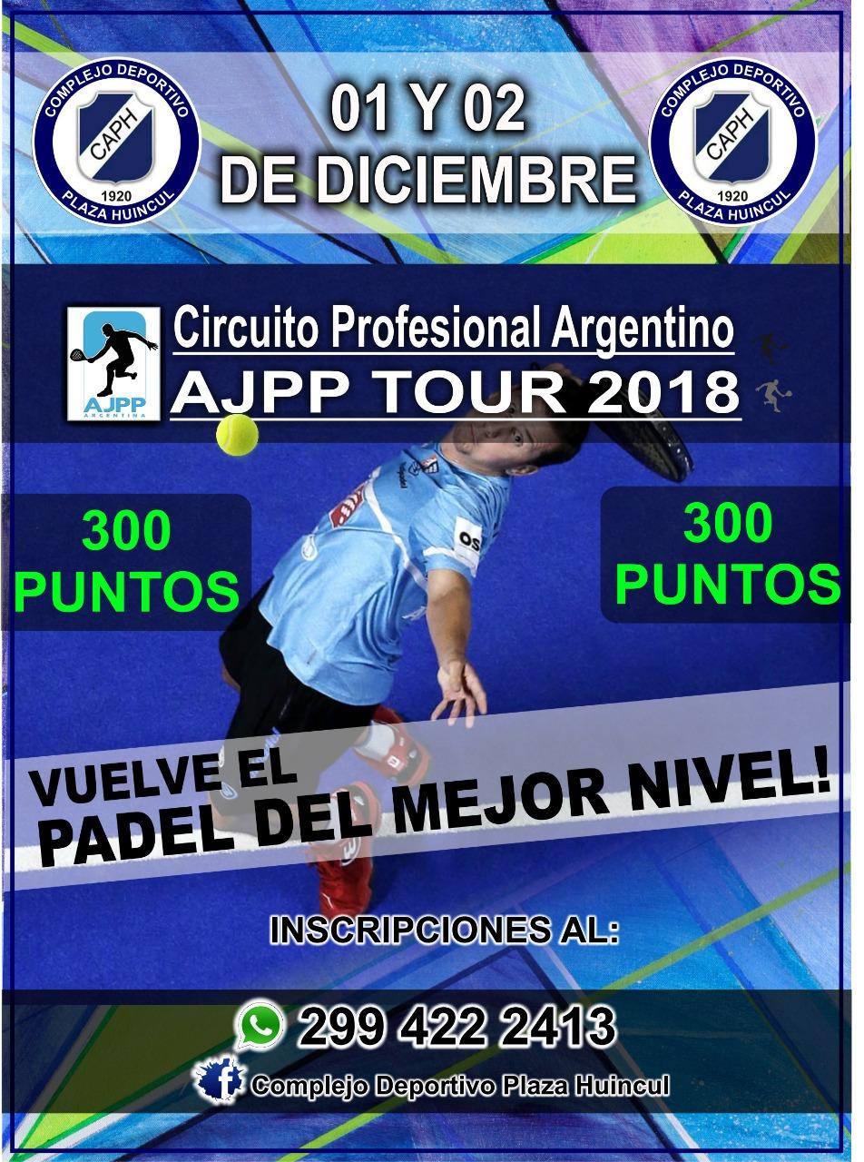 AJPP TOUR 2018 «1 Y 2 DE DICIEMBRE EN EL COMPLEJO DEPORTIVO PLAZA HUINCUL»