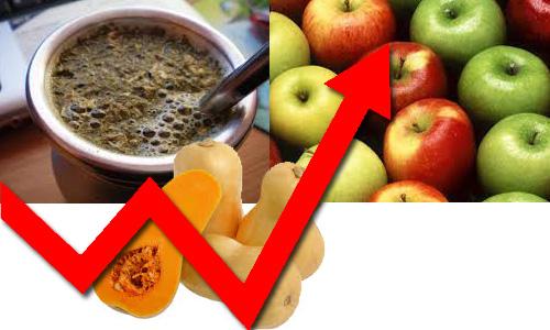 A partir del Lunes Aumenta La Yerba, Zapallo y Manzanas