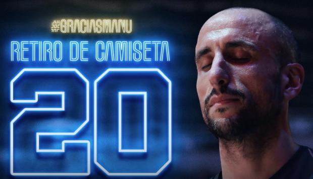 Hoy Manu Ginóbili se retira y Sú camiseta N°20 quedará en la Historia de la NBA y los Spurs