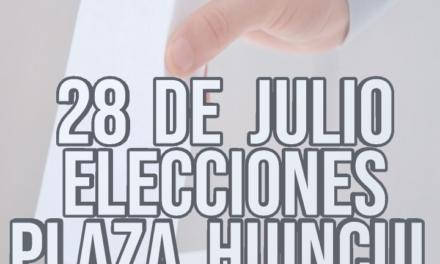 28 de julio elecciones en Plaza Huincul