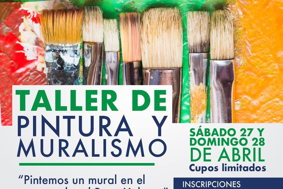 Taller de Pintura y Muralismo en el Centro Cultural Ruca Lighuen.