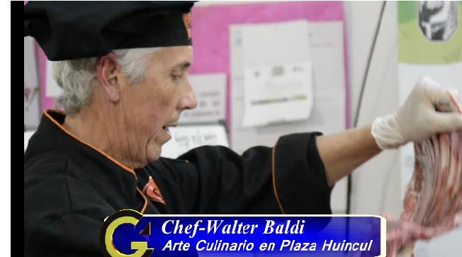Arte Culinario con Chef Walter Baldi en Plaza Huincul