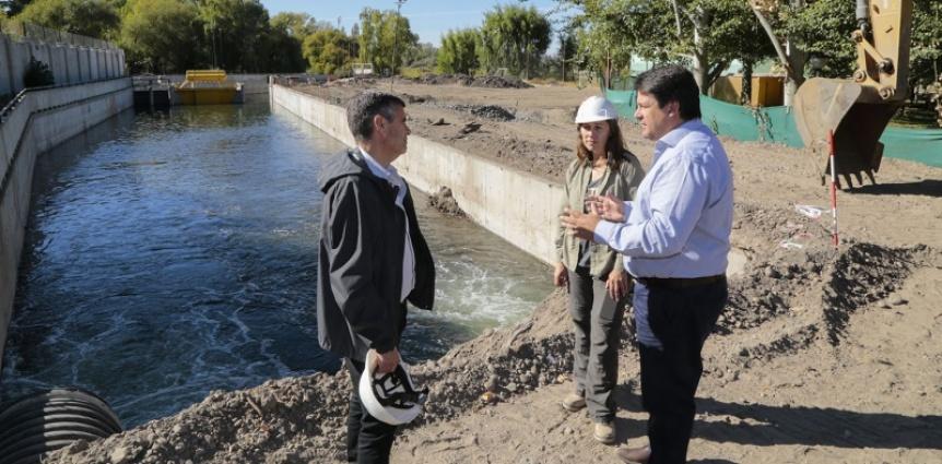 Mariano Gaido en campaña y recorrió Obras del Arroyo Duran