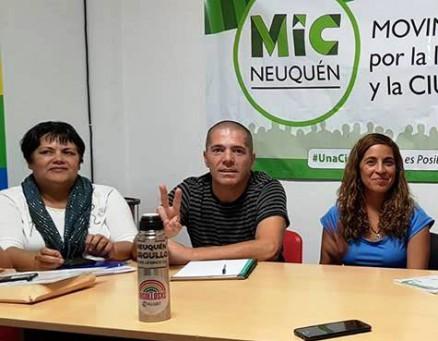 Mariano Gaido candidato para la ciudad Neuquina, y su primer colectora el MIC