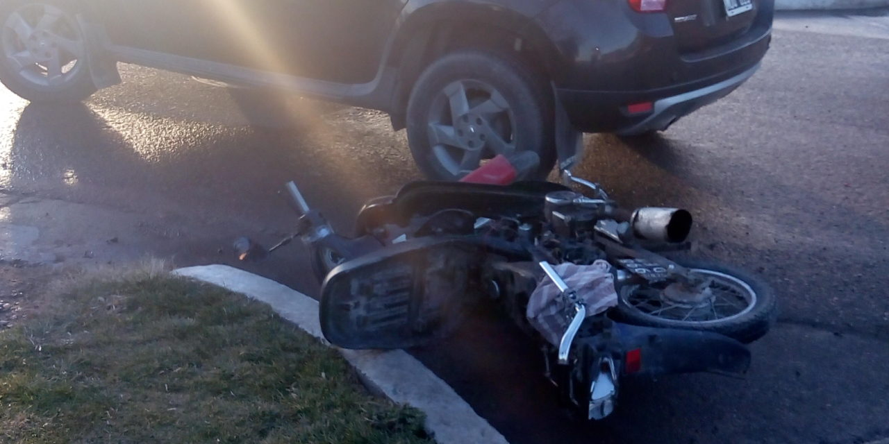 Accidente en avenida Schreiber en esquina del hospital