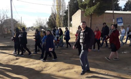 Incidente en la Caminata de Suárez en Plaza Huincul