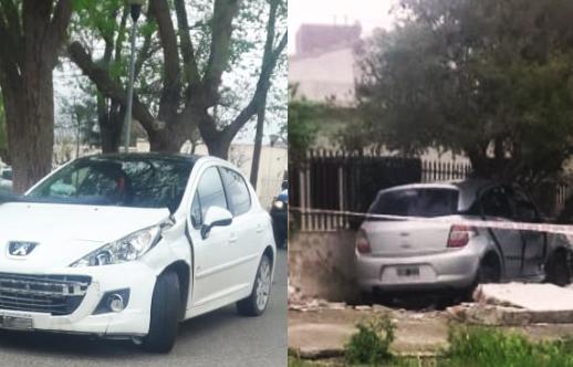 Tras el impacto, auto ingresa al patio de la casa