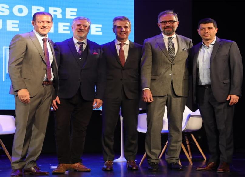 Omar Gutierrez junto Redrado, Marangoni y Tonelli