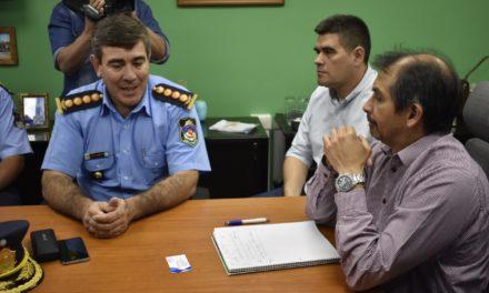 Gustavo Suarez junto a Cúpula Policial