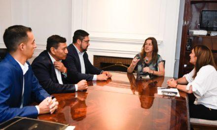 Jose Rioseco junto a la Ministra de Seguridad de la Nacion