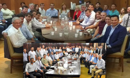 Suarez en reunión de Trabajo con Nacion