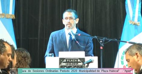 Anuncios de Suarez en la Apertura de Sesiones ordinarias en Plaza Huincul