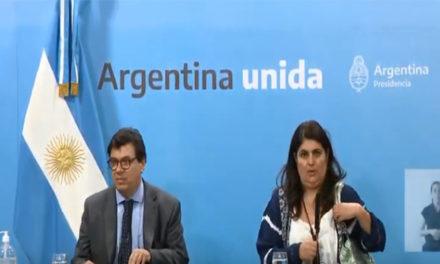 Conferencia de prensa de Claudio Moroni y Ana Castella