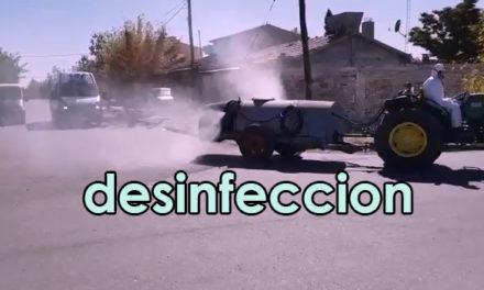 Desinfección en barrios de Cutral Co