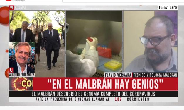 El Presidente Fernández tildó de Genios a Médicos y Técnicos del Malbrán