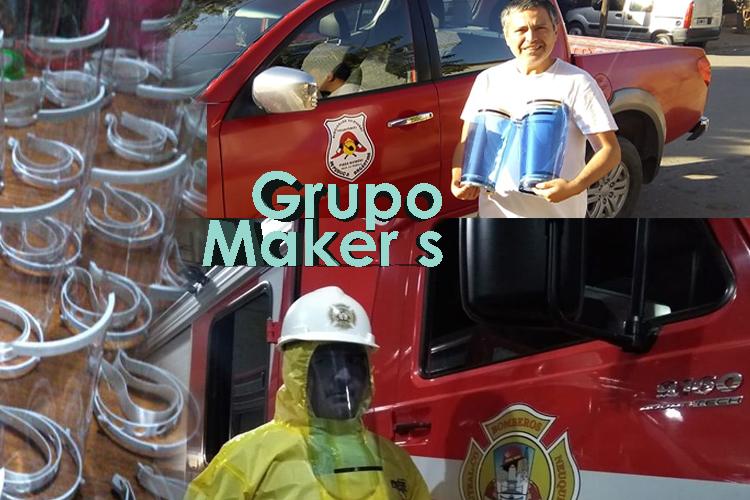 Solidaridad de un Grupo de Makers que crean Mascaras para combatir Pandemia