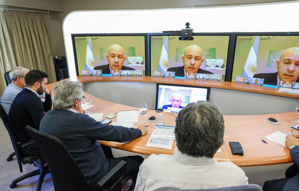 Alberto Fernandez converso con 31 intendentes del interior del Pais
