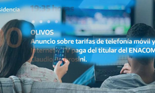 Se Suspende Aumentos de Telefonia Fija, Movil y TV Paga hasta el 31 de Agosto