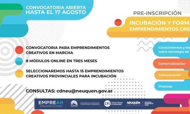 Convocatoria abierta hasta el 17 de Agosto para Programa de incubación Emprendedores 2020
