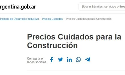 Precios cuidados de la construcción contribuirá a la recuperación