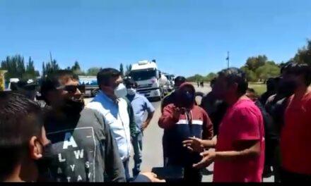 Manifestante fue atropellado en el corte sobre ruta 22