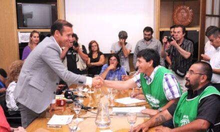 Gutierrez cierra con ATE y UPCN