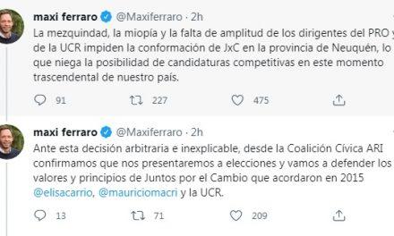 La coalición Cívica rompe  Juntos Por el Cambio